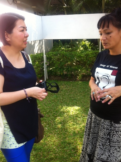 Susanna and Ruth, of New Theatre Institute Yangon